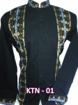 Baju Koko Hitam Lengan Panjang