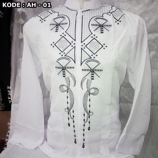 Baju Koko warna Putih panjang
