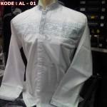 Baju Koko Putih Lengan Panjang