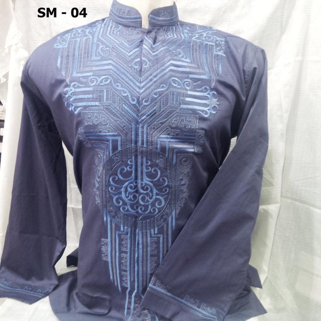 Baju Koko Lengan Panjang Warna Biru