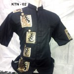 Baju Koko Lengan Pendek Warna Hitam