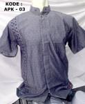 Baju Koko Lengan Pendek Bordir Simpel
