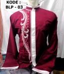 Baju Koko Warna Merah Lengan Panjang Terbaru