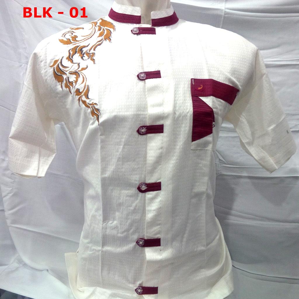 baju koko putih pendek