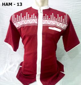 baju-koko-lengan-pendek-merah-terbaru