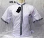 Model Baju Koko Putih Lengan Pendek Cakep Terbaru 2017