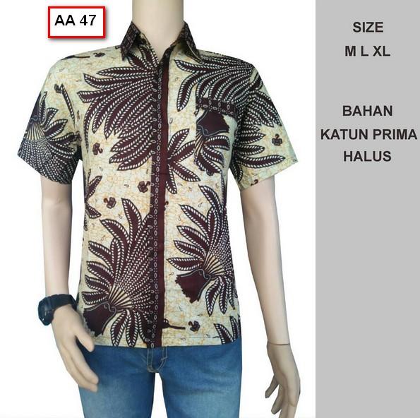 Gambar Batik Kerja 2017: Koleksi Gambar Baju Batik Pria Model Terbaru Tahun Ini